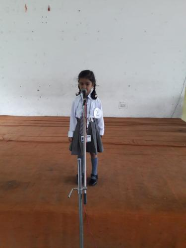 Action Song Competition in Primary Wing 19.10.2019
