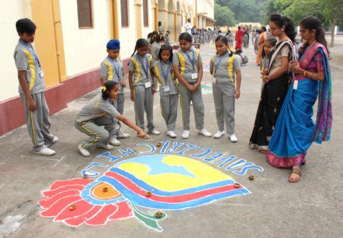 Rangoli Competition in Primary Wing 19.10.2019